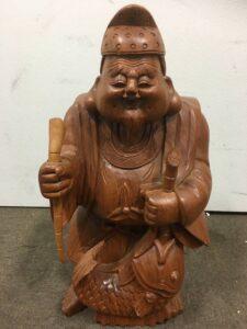 恵比寿様 七福神 木彫り